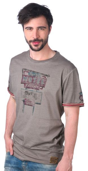 Brave Soul pánské tričko Motel L šedá