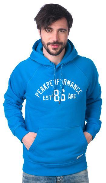 Peak Performance pánská mikina s kapucí S modrá