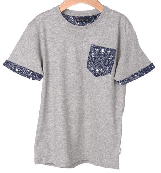 Brave Soul chlapecké tričko Madness 140 šedá