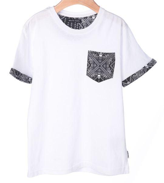 Brave Soul chlapecké tričko Madness 140 bílá