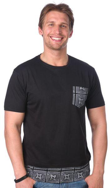Brave Soul pánské tričko Verse L černá
