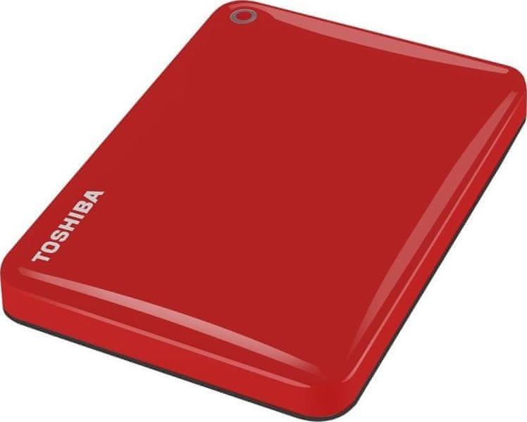 "TOSHIBA Canvio Connect II 3TB / Externí / USB 3.0 / 2,5"" / Red (HDTC830ER3CA)"