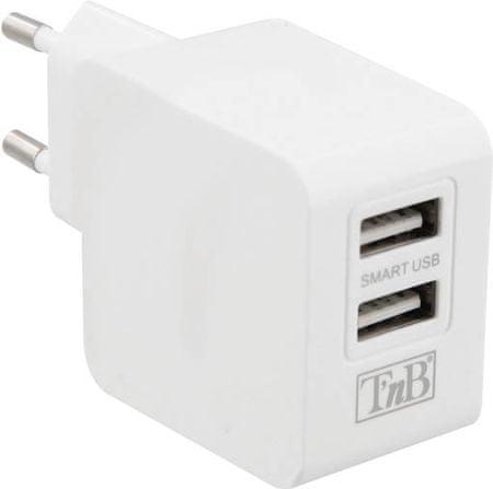TNB ultra rychlá nabíječka, 3,1 A, 2 x USB