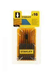 Stanley Pilové listy HCS/HSS do dřeva (jemné, hrubé řezy) a kovu, uchycení T, sada 16 dílů