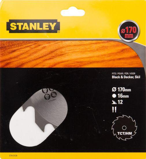 Stanley Pilový kotouč pro podélné řezání, TCT/HM, Ø170x16mm 12 zubů