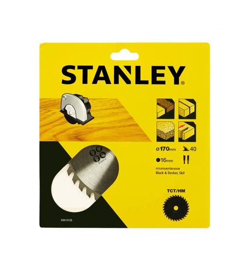 Stanley Pilový kotouč pro přesné příčné řezání, TCT/HM, Ø170x16mm 40 zubů