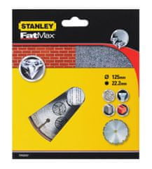 Stanley Gyémánt vágókorong, Szegmentált, 125 x 22.2 mm