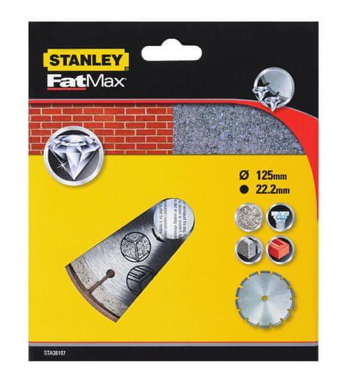 Stanley Diamantový kotúč segmentový na betón/tehly 125 × 22,2 mm (STA38107-XJ)