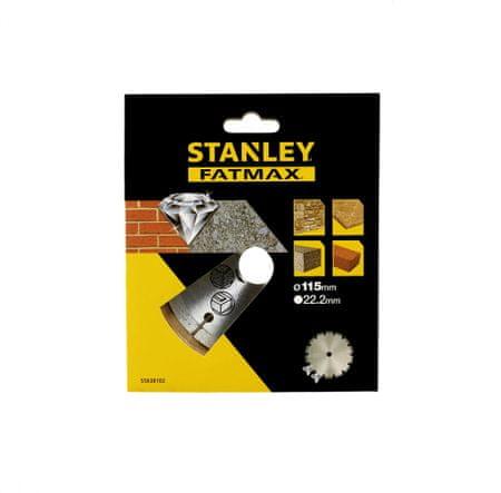 Stanley Diamantový kotouč segmentový na beton/cihly 115x22,2mm
