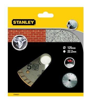Stanley TURBO Gyémánt vágókorong, 125 x 22.2 mm