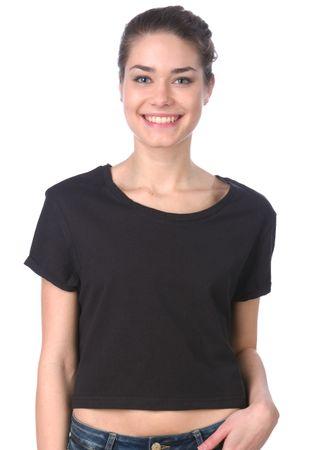 Brave Soul ženska majica Boycrop L črna