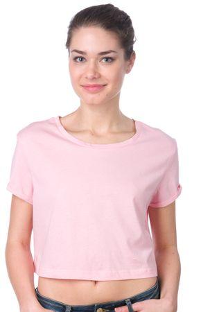 Brave Soul ženska majica Boycrop L roza