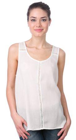 Brave Soul koszulka bez rękawów damska Poppinsr L kremowy