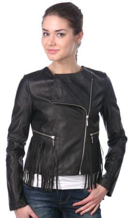 Brave Soul ženska jakna Fringes S črna