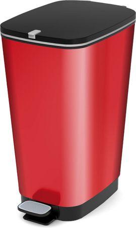 Kis koš za odpadke Chic Bin Metal Red, 50 l, rdeč