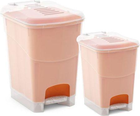 Kis set dveh košev za odpadke Koral, 10 l in 20 l, oranžen