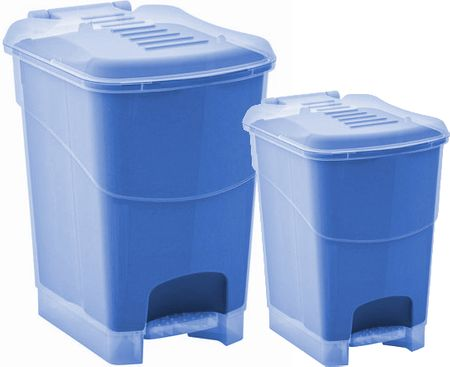 Kis set dveh košev za odpadke Koral, 10 l in 20 l, moder