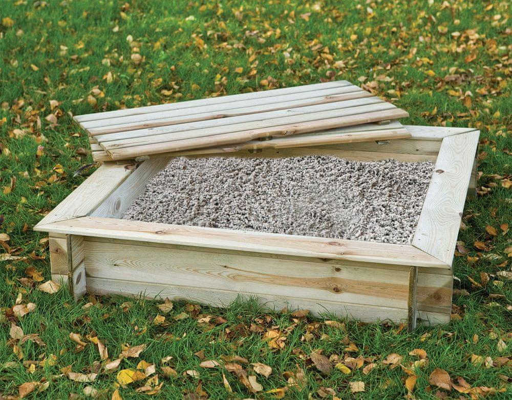 Vladeko Pískoviště čtverec s krytem 100x100 cm