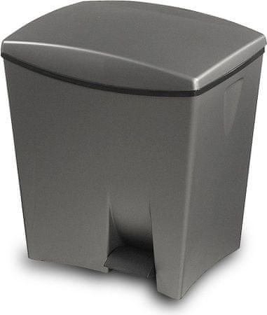 Kis koš za odpadke Duetto z dvema prostoroma za ločevanje, 10 in 20 l, siv