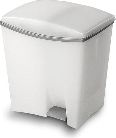 Kis koš za odpadke Duetto z dvema prostoroma za ločevanje, 10 in 20 l, bel