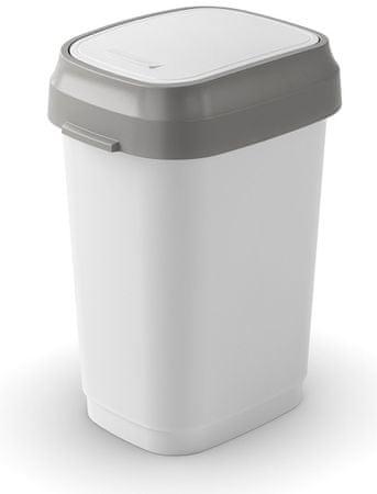 Kis koš za odpadke Dual Swing, 25 l, bel