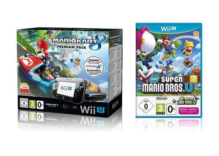 Nintendo WiiU premium pack + Mario Kart 8 + New Super Mario Bros U + New Super Luigi U