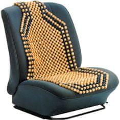 CarPoint Potah sedadla kuličkový - přírodní dřevo