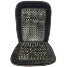 CarPoint Potah sedadla masážní kuličkový - černý