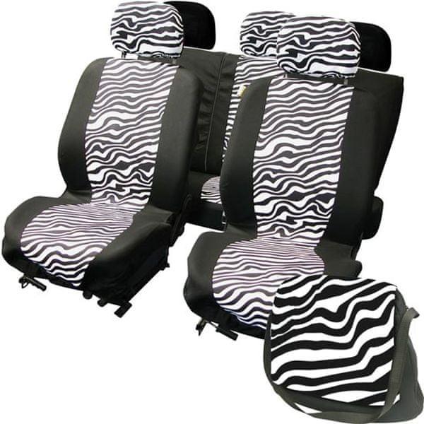 CarPoint Potahy sedadel LadyLine Zebra
