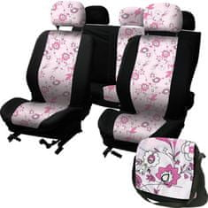 CarPoint Potahy sedadel LadyLine Pink Flower