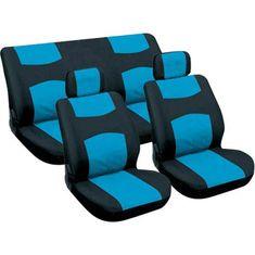 CarPoint Potahy sedadel - modré / černé