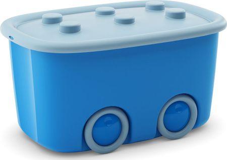 Kis škatla za shranjevanje Funny box, 46 l, modra