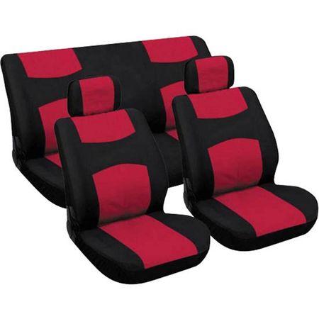 CarPoint pokrowce na siedzenia - czerwone/czarne