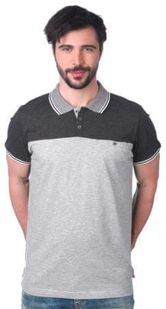 Brave Soul moška polo majica Steranko M siva