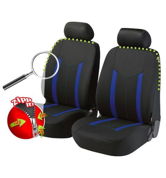 CarPoint Potahy na přední sedadla Hasting Zipp-it