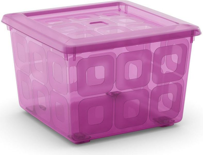 Kis Square box s kolečky 28 l růžová