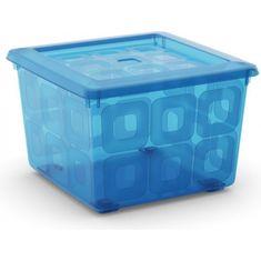 Kis škatla za shranjevanje s kolesi Square box, 28 l