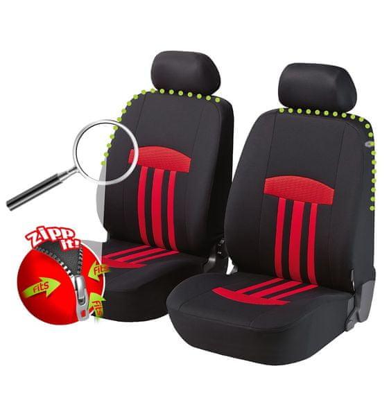 CarPoint Potahy na přední sedadla Kent Zipp-it