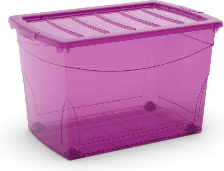 Kis Omni box s kolečky 60 l růžová