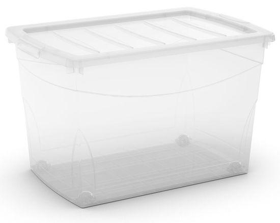 Kis škatla za shranjevanje s kolesi Omni Box, 60 l