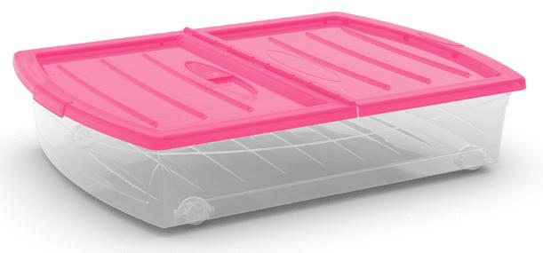 Kis Spinning box s kolečky 56 l růžová