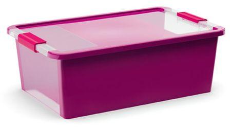 Kis škatla za shranjevanje Bi-box, 26 l, vijolična