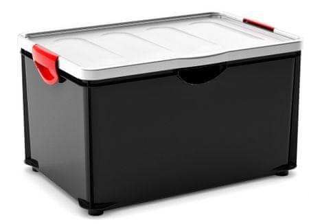 Kis škatla za shranjevanje Clipper Box, 58,4 l, črna