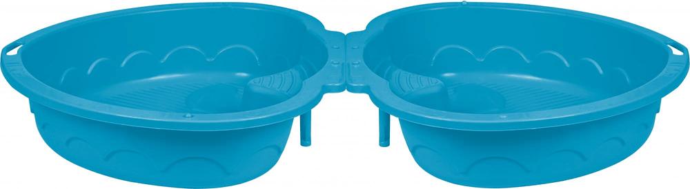 PalPlay Pískoviště/bazének dvojité srdce s krytem modrá