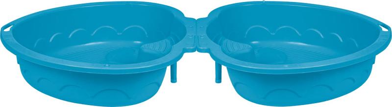 Marian Plast Pískoviště/bazének dvojité srdce s krytem modrá