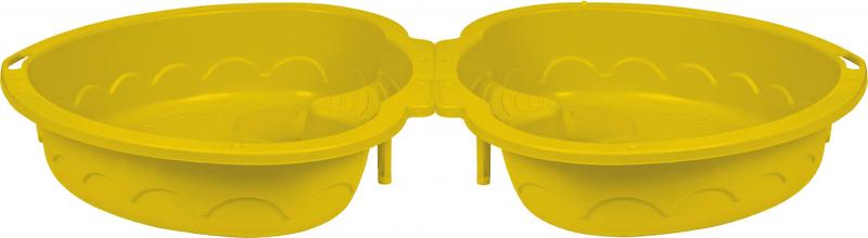 Marian Plast Pískoviště/bazének dvojité srdce s krytem žlutá