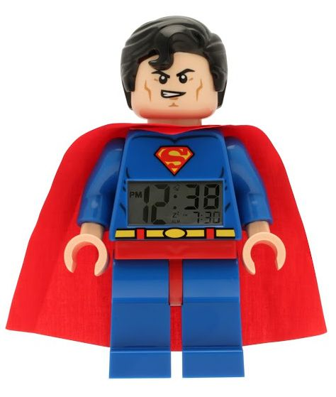LEGO® DC Super Heroes Superman - hodiny s budíkem