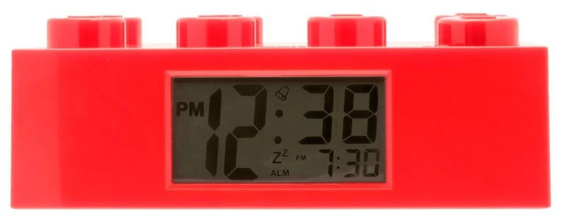 LEGO® Dětský budík Brick červená