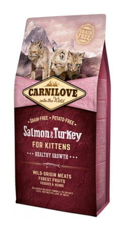 Carnilove sucha karma dla kociąt Salmon & Turkey for Kittens – Healthy Growth 6 kg