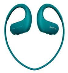 Sony NW-WS413L brezžične športne slušalke z MP3 predvajalnikom, 4 GB, modre